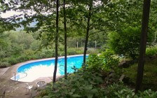 Woodland home and garden pool in Woodstock, NY