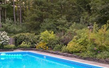 Saugerties, NY garden and pool area