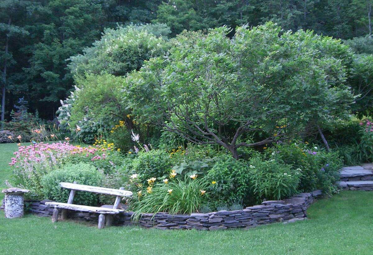 A Landscaped Garden in Bearsville NY